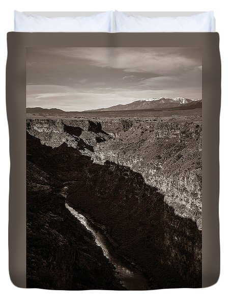 Duvet Cover featuring the photograph Rio Grande River Taos by Marilyn Hunt
