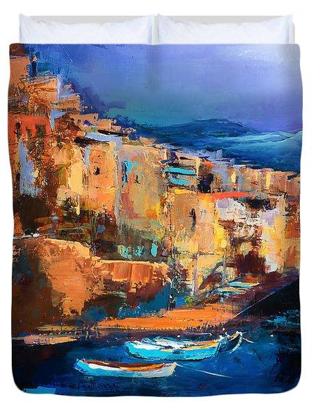 Riomaggiore - Cinque Terre Duvet Cover
