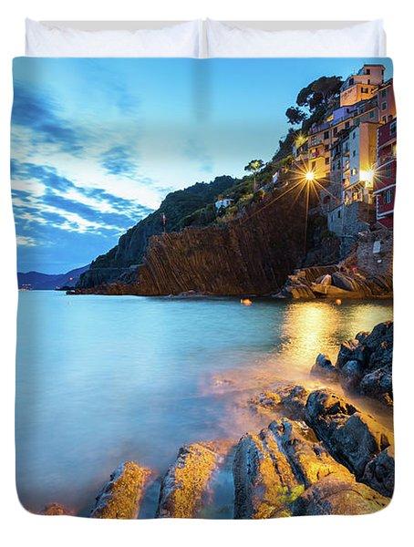 Riomaggiore Duvet Cover by Evgeni Dinev