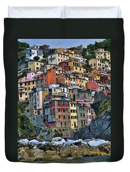 Riomaggiore Duvet Cover by Vickie Bushnell