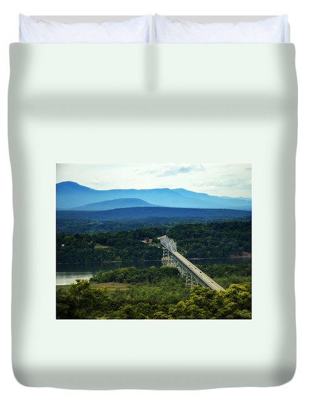 Duvet Cover featuring the photograph Rip Van Winkle Bridge by Bruce Carpenter