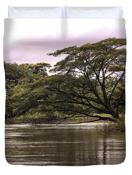 Riparian Rainforest Canopy Duvet Cover