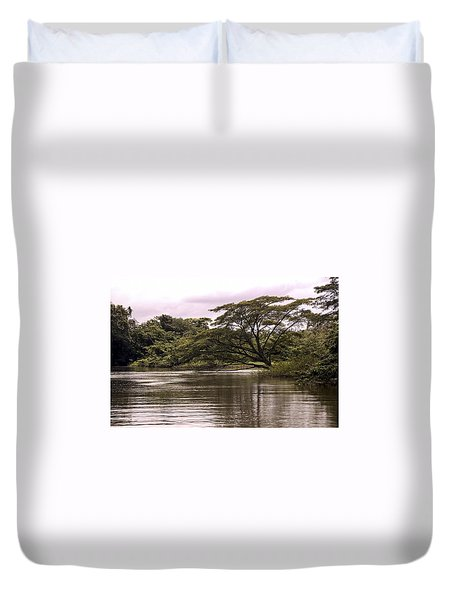 Riparian Rainforest Canopy Duvet Cover