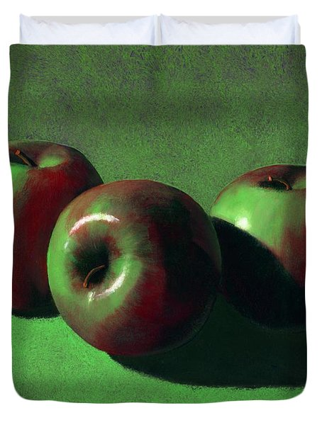 Ripe Apples Duvet Cover