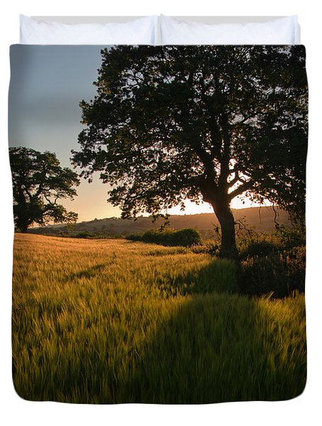 Ripe Harvest At The End Of The Day Duvet Cover