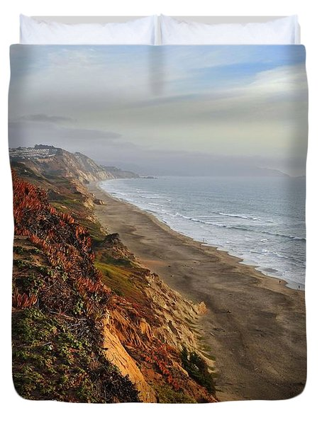 Rippled By Wind And Water Duvet Cover by Scott Cameron