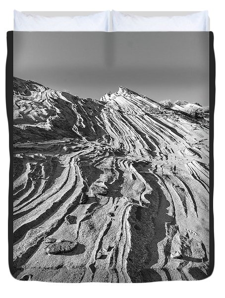 Rippled Sandstone At Waterhole Canyon Duvet Cover