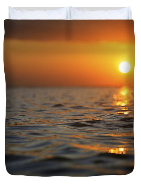 Rippled Sunset Duvet Cover by Brandon Tabiolo - Printscapes