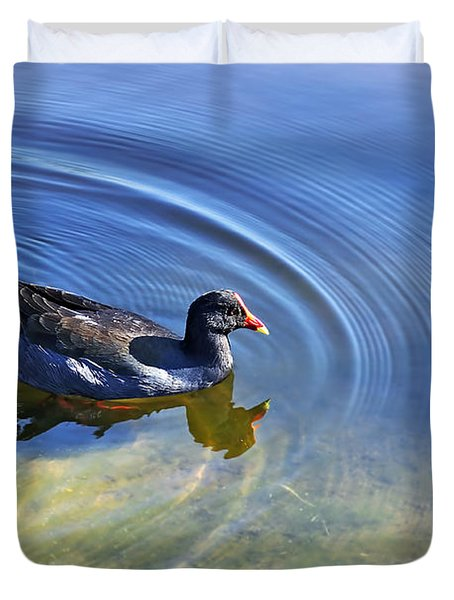 Ripples And Seaweed Duvet Cover by Kaye Menner