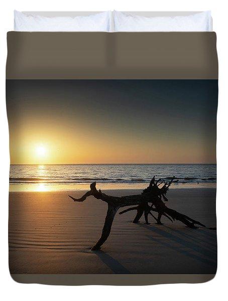 Ripples At Sunrise Duvet Cover