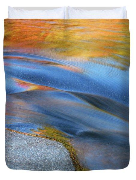 Ripples Flow Swift River Nh Duvet Cover