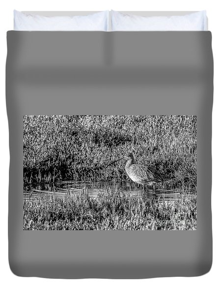 Camouflage, Black And White Duvet Cover