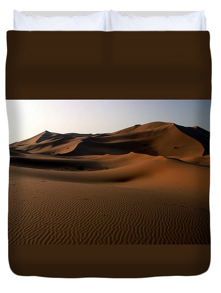 Ripples In The Sand Duvet Cover by Ralph A  Ledergerber-Photography