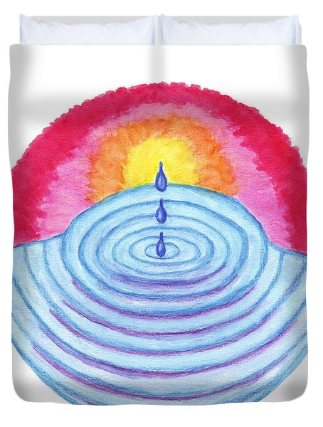 Ripples Of Change Duvet Cover by Wendy Hawkins