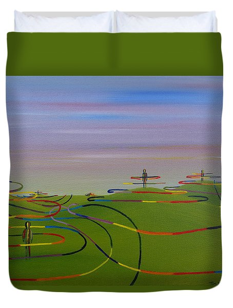 Ripples Of Life 1.2 Duvet Cover by Tim Mullaney