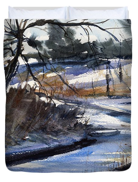 Rippleton Road River Duvet Cover by Judith Levins