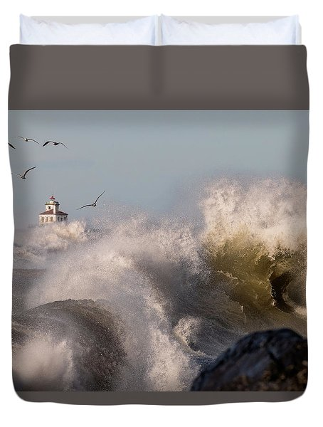 Duvet Cover featuring the photograph Rise Above The Turbulence by Everet Regal