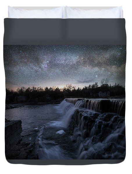 Rise And Fall Duvet Cover by Aaron J Groen