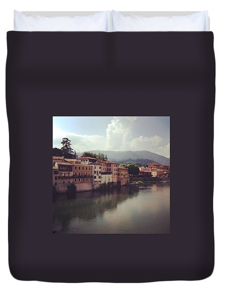 Rise And Shine #bassanodelgrappa Duvet Cover