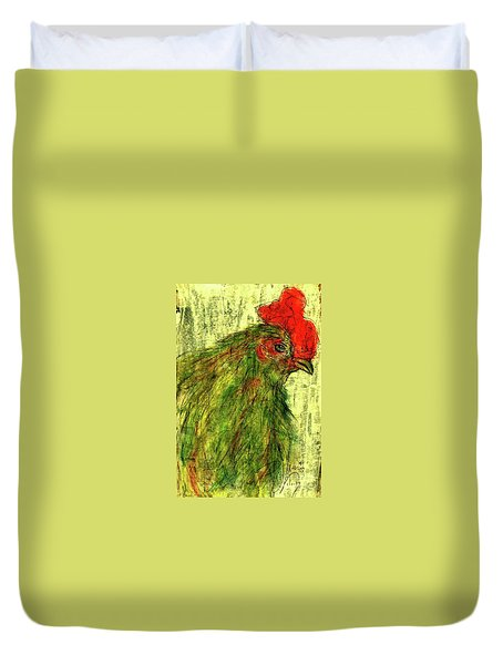 Duvet Cover featuring the drawing Rise And Shine  by P J Lewis