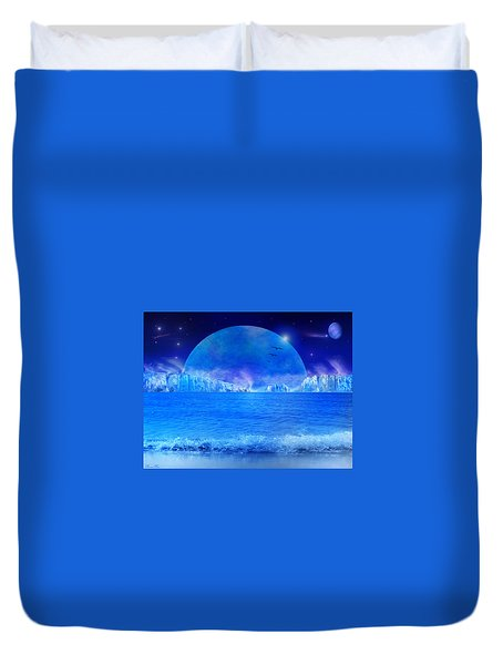 Duvet Cover featuring the digital art Rise by Bernd Hau