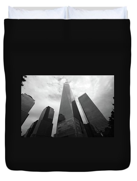 Duvet Cover featuring the photograph Risen Out Of The Rubble by John Schneider