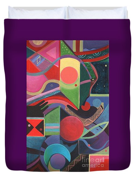 Rising Above And Synergy 2 Duvet Cover