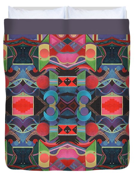 Rising Above And Synergy 4 Duvet Cover