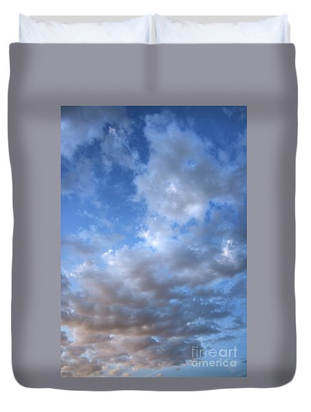 Duvet Cover featuring the photograph Rising Clouds by Michael Rock