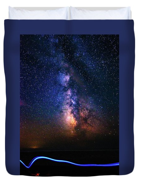 Duvet Cover featuring the photograph Rising From The Clouds by Bryan Carter