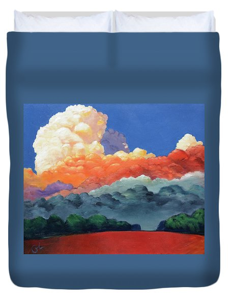 Rising High Duvet Cover by Gary Coleman