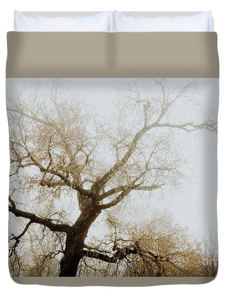 Duvet Cover featuring the photograph Rising by Iris Greenwell