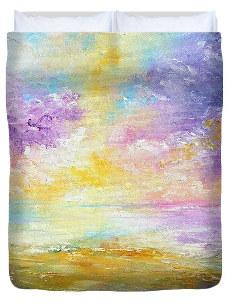 Rising Joy Duvet Cover by Meaghan Troup