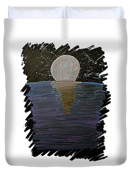 Rising Moon Duvet Cover