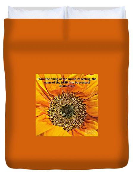 Rising Of The Sun Duvet Cover