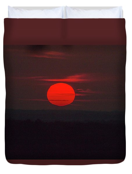 Rising Sun In Texas Duvet Cover