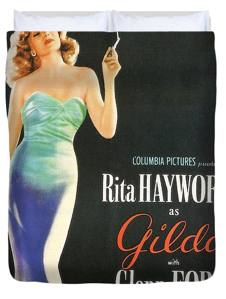 Rita Hayworth As Gilda Duvet Cover by Georgia Fowler