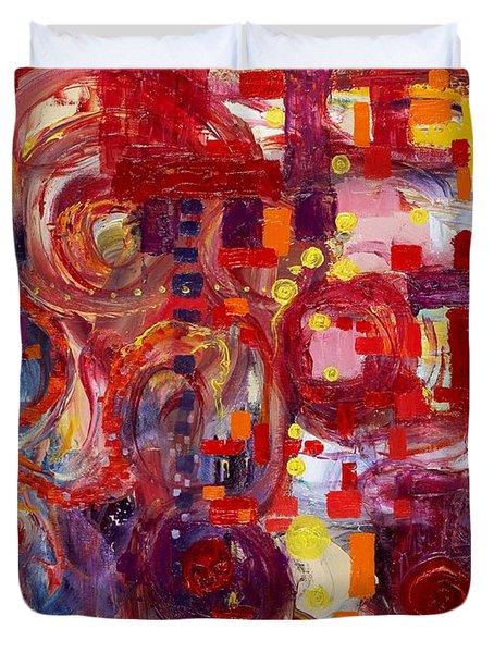 Rite Of Spring Duvet Cover by Regina Valluzzi
