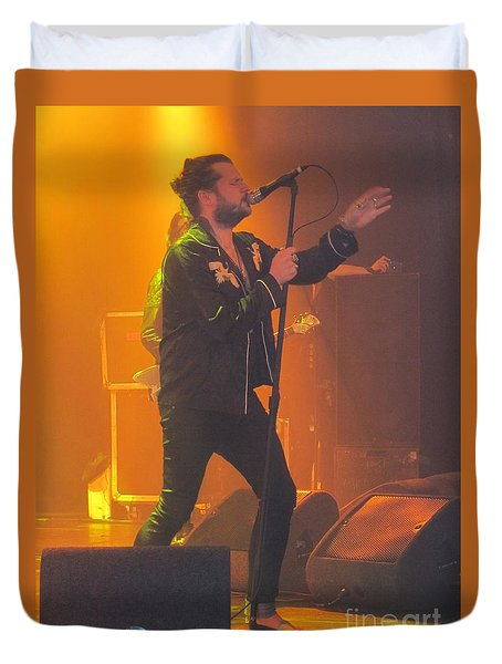 Rival Sons Jay Buchanan Duvet Cover by Jeepee Aero