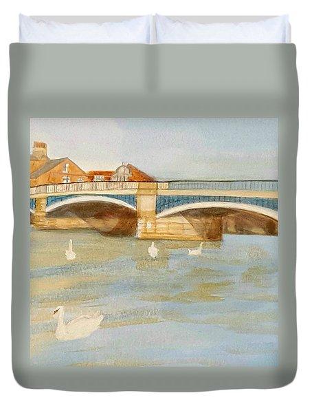 River At Royal Windsor Duvet Cover