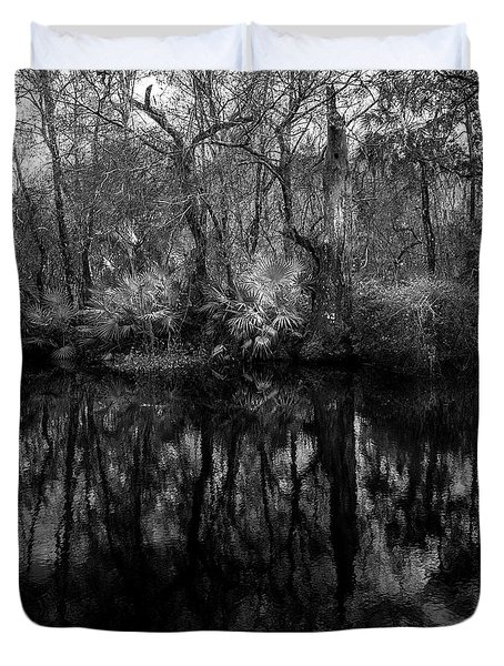 Duvet Cover featuring the photograph River Bank Palmetto by Marvin Spates