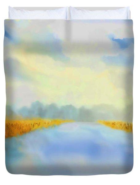 River Blue Duvet Cover