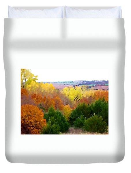 River Bottom In Autumn Duvet Cover
