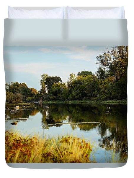 River Bypass Duvet Cover by Pamela Patch