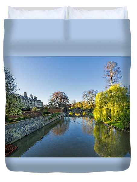 Duvet Cover featuring the photograph River Cam by James Billings