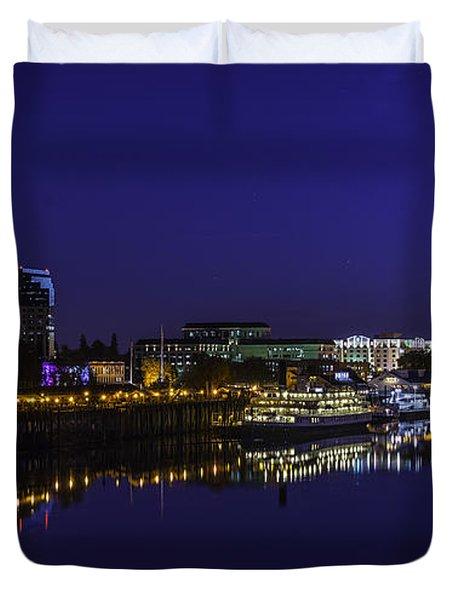 River City Blues Duvet Cover