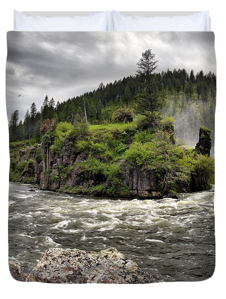 River Course Duvet Cover by Leland D Howard