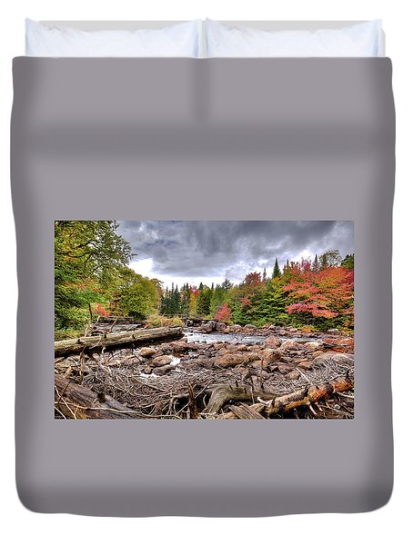 Duvet Cover featuring the photograph River Debris At Indian Rapids by David Patterson