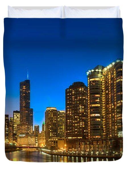 River East Chicago Duvet Cover