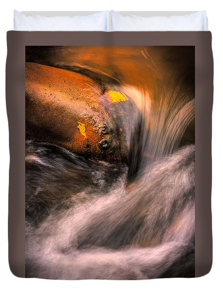 River Flow, Zion National Park Duvet Cover